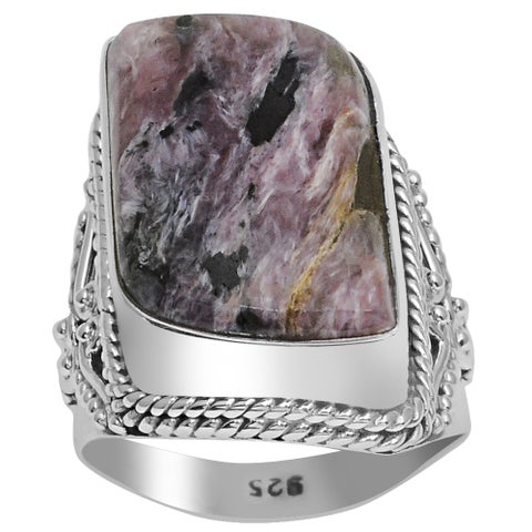 Orchid Jewelry 925 Sterling Silver 12 3/4 Carat Sugilite Handmade Ring
