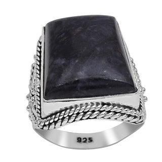 Orchid Jewelry 925 Sterling Silver 20 2/3 Carat Sugilite Ring