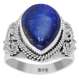 Orchid Jewelry 925 Sterling Silver 6 5/7 Carat Lapis Ring