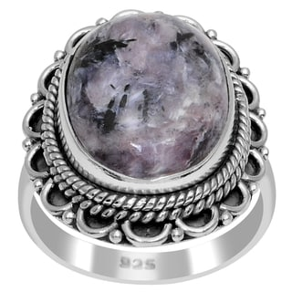 Orchid Jewelry 925 Sterling Silver 8 3/4 Carat Sugilite Ring