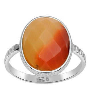 Orchid Jewelry 925 Sterling Silver 7 Carat Mookaite Jasper Ring