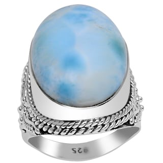 Orchid Jewelry 925 Sterling Silver 17 4/9 Carat Amazonite Ring