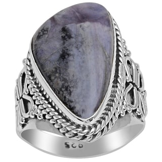 Orchid Jewelry 925 Sterling Silver 7 1/5 Carat Sugilite Ring