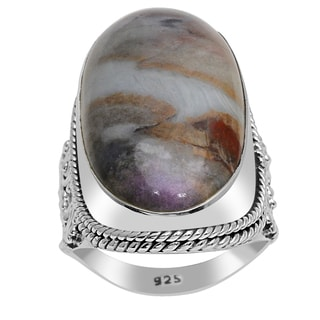 Orchid Jewelry 925 Sterling Silver 25 1/3 Carat Sugilite Ring