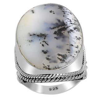 Orchid Jewelry 925 Sterling Silver 14 Carat Agate Fashion Ring