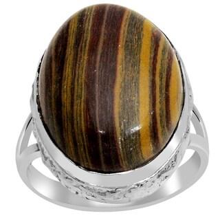 Orchid Jewelry 925 Sterling Silver 16 8/9 Carat Zebra Jasper Ring