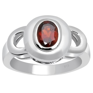 Orchid Jewelry 925 Sterling Silver 0.95 Carat Garnet Birthstone Ring