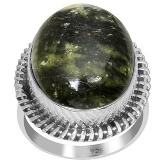 Orchid Jewelry 925 Sterling Silver 17 4/5 Carat Galaxy Jasper Ring