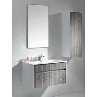 Eviva Ashy Modern Ash Grey Wall Mount 32-inch Single Bathroom Vanity