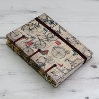 Handmade Paper 'Vintage Bike Journeys' Journal (India)