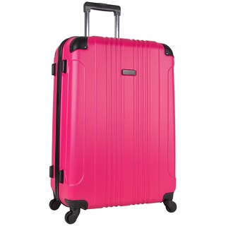 Kenneth Cole Reaction Out of Bounds 28-inch Molded Hardside 4-Wheel Spinner Checked Suitcase (Option: magenta)
