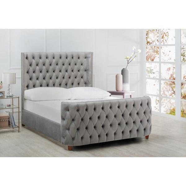 Shop Jennifer Taylor Brooklyn Tufted Headboard Bed - On Sale - Free ...