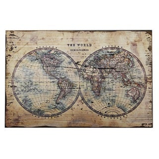 Mercator World Map Wall Plaque