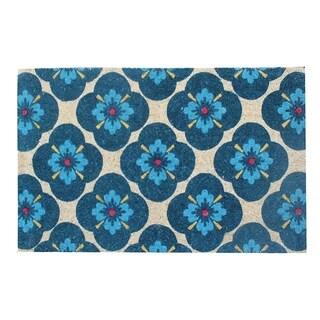 A1HC First Impression Floral 24-inch x 48-inch Coir Doormat