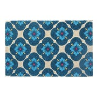 A1HC First Impression Floral 24-inch x 48-inch Coir Doormat