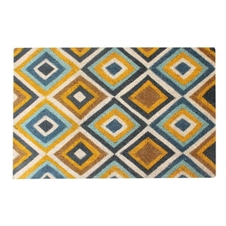 A1HC First Impression Engineered Anti Shred Coir Diamond Patterned Doormat (2' x 3')