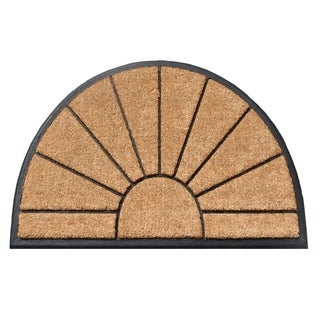 A1HC First Impression Braxton Rubber and Coir Hand Molded Tapered Edge Doormat (2' x 3'3)