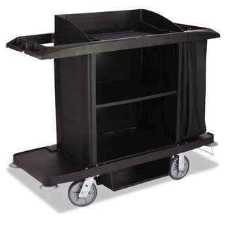 Rubbermaid Commercial Housekeeping Cart 22-inch wide x 60-inch deep x 50-inch high Black