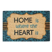 A1HC First Impression Giovanni Multicolored Tufted Coir and PVC Engineered Anti Shred Treated Doormat (1'6 x 2'6)