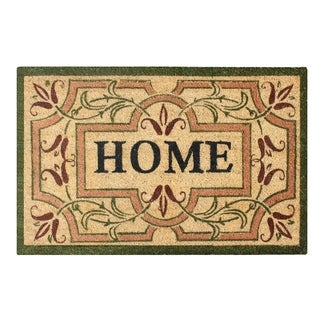 A1HC First Impression Engineered Anti-shred Bleach Coir 24-inch x 36-inch 'Home' Handcrafted Doormat