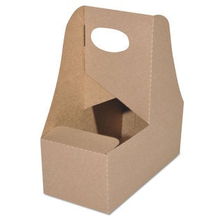 SCT 4-Corner Pop-Up Food and Drink Tray 2-Cup 7 5/8x3.75x8 7/8 White 250/Carton