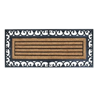 First Impression Clarence Rubber and Coir Molded Doormat (18 inch x 48-inch)