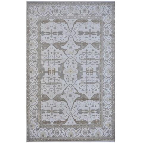 Handmade Herat Oriental Indo Tribal Oushak Wool Rug - 12'3 x 17'7 (India)