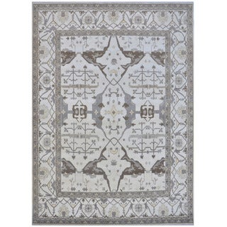 Herat Oriental Indo Hand-knotted Tribal Oushak Wool Rug (12'3 x 15'2)