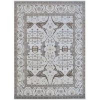 Handmade Herat Oriental Indo Tribal Oushak Wool Rug (India) - 12'3 x 15'2