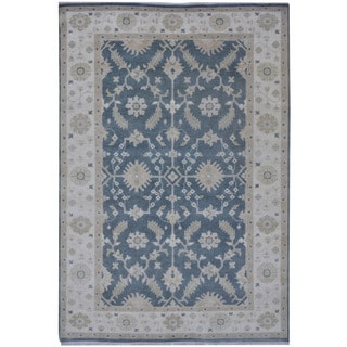 Herat Oriental Indo Hand-knotted Tribal Oushak Wool Rug (6'2 x 8'11)