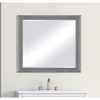 Custom-sized Silver Framed Beveled Mirror - 36 x 60