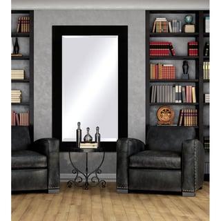Black Framed Beveled Mirror