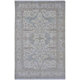 Herat Oriental Indo Hand-knotted Tribal Oushak Wool Rug (6' x 9'2)