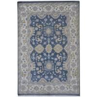 Handmade Herat Oriental Indo Tribal Oushak Wool Rug (India) - 6'1 x 9'