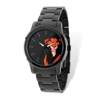 Disney Stainless Steel Men's Lion King Scar Black-plated Watch