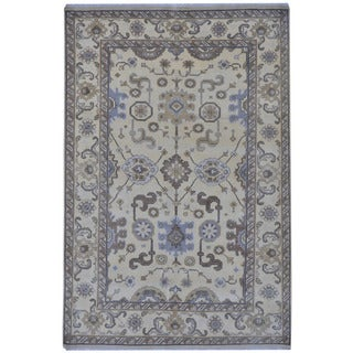 Herat Oriental Indo Hand-knotted Tribal Oushak Wool Rug (6'1 x 9')