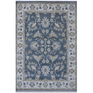 Herat Oriental Indo Hand-knotted Tribal Oushak Wool Rug (6'3 x 9'2)