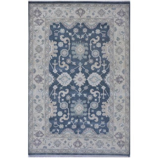 Herat Oriental Indo Hand-knotted Tribal Oushak Wool Rug (6'3 x 9'4)