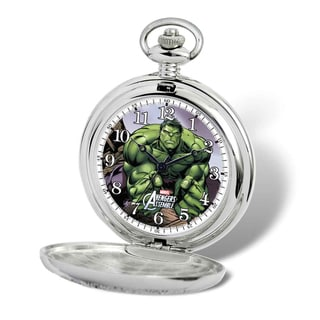 Marvel Stainless Steel Men's Hulk Pocket Watch With Chain