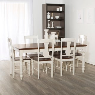 7-Piece Two Toned Solid Wood Dining Set