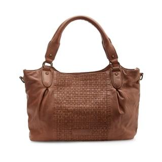 Liebeskind Berlin Dominique Leather Handwoven Satchel Handbag