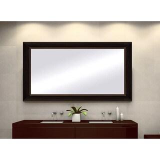 Black Copper Framed Mirror - Black/Brown