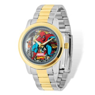 Marvel Stainless Steel Men's Spiderman Two-tone Watch