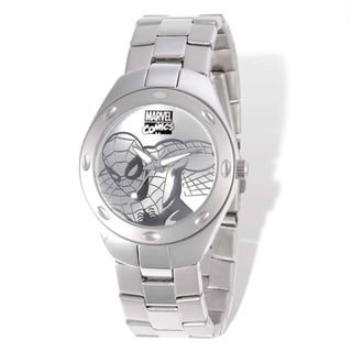 Marvel Stainless Steel Men's Spiderman Silver-tone Watch