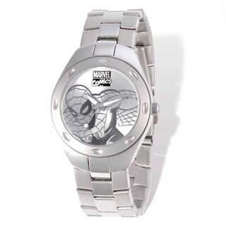 Marvel Stainless Steel Men's Spiderman Silver-tone Watch