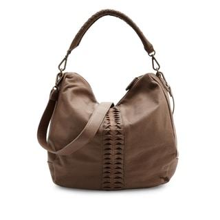 Liebeskind Berlin Niva Brown Leather Lasercut Hobo Handbag