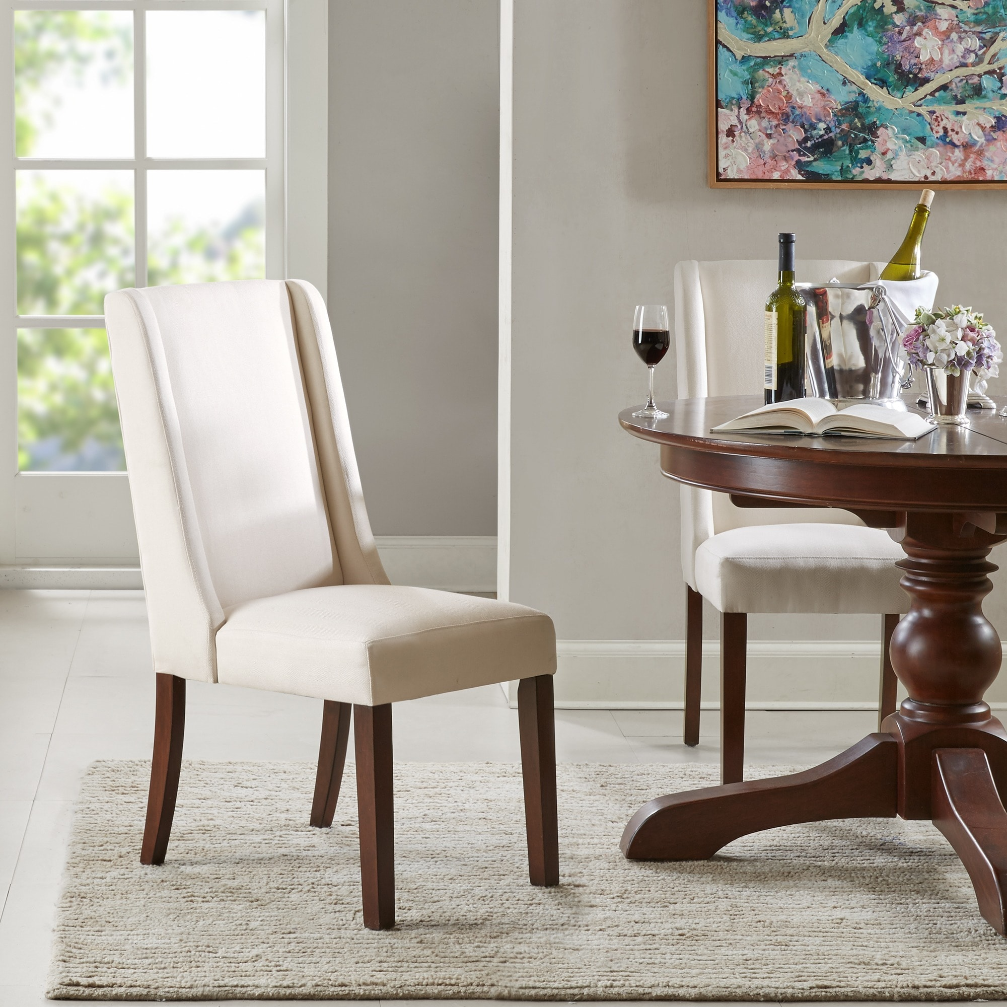 Madison Park Victor Cream (Ivory) Wing Dining Chair (Set ...