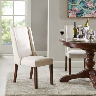Madison Park Victor Cream Wing Dining Chair (Set of 2)
