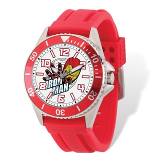 Marvel Stainless Steel Men's Iron Man Red Band Watch
