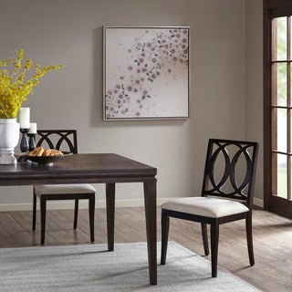 Madison Park Signature Linen/ Ebony Cooper Dining Chair (Set of 2)